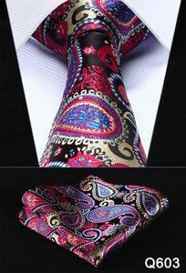 """Image 4 - Pocket Piazza Del Partito Classico Da Sposa Floreale 3.4 """"di Seta di Nozze Mens Extra Lungo Tie XL Cravatta Fazzoletto Set # Q6"""