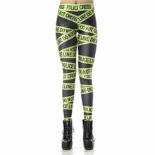2016 new Fitness Leggins High Waist Police Line Legins Printed Women Leggings KDK1218