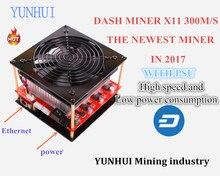 PRE-VENTE X11 DASH Mineur Baïkal mineur Baïkal CUBE 300 M/S dash mineur avec PSU Algorithme X11/X13/X15/Quar/qubit YUNHUI l'exploitation minière