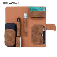 GIRLWOMAN for IQOS 2.4 Plus Wallet Pouch Bag Protective Holder Cover Women Wallet Case Electronic Cigarette iQOS PU Leather Case original ayi 900mah superior quality heat not burn iqo electronic cigarette vape kits compatibility with iqos stick