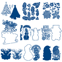 Christmas Tree Stocking Leaves Ornaments Metal Cutting Dies for Scrapbooking DIY Album Card Making Decoration Stencil New 2019