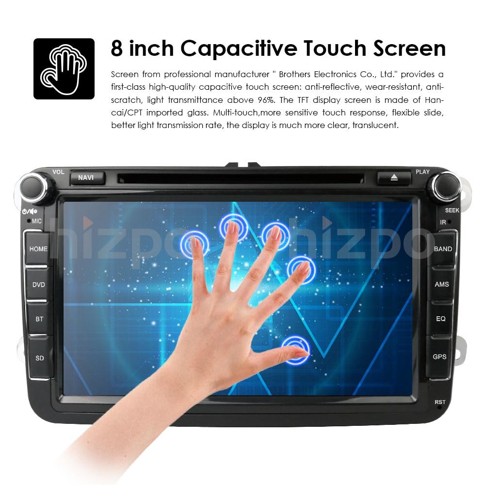 Cheap 2Din 8Inch Car DVD Player For VW POLO PASSAT Golf Skoda Octavia SEAT LEON DAB SWC Radio GPS Navigation 1080P FM Free Camera Maps 14