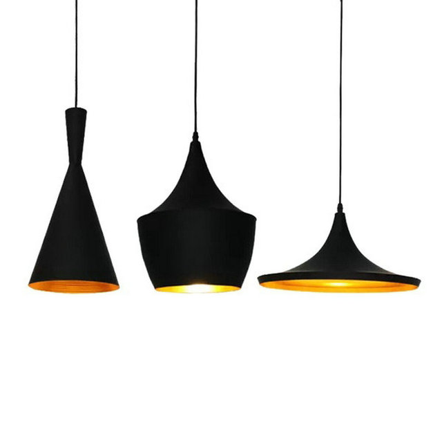 modern black white simple aluminium novelty pendant lamp design