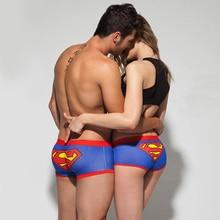 Free shipping brand quality couple underwear cotton cartoon underpants soft modal panties men boxer shorts cueca masculine XL