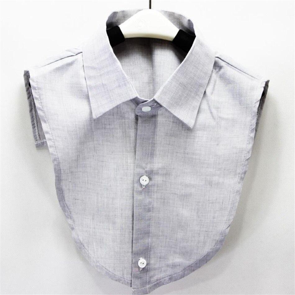 Showersmile Fake Collar Shirt Cotton Shirt Men Women Detachable