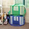 34L полоса большой мешок льда толщиной пикник изолированные сумка-холодильник на автомобильных автомобильный холодильник для хранения организатор