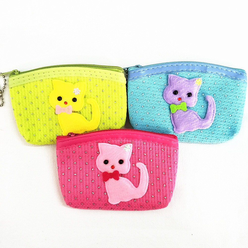 M002 Creative Cartoon Cute Small Cat Dot Dot Line Data Line Coin Purse Card Bag Girl  Women Student Gift Wholesale m705 2018 cute cartoon women cloth bag fashion coin purses creative alpaca design handbag student girl women gift wholesale