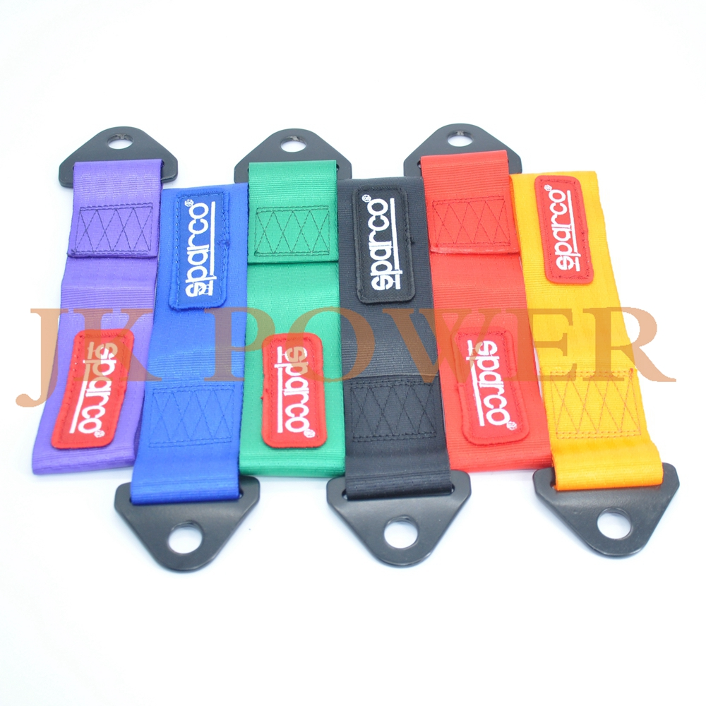 JK SPCO Style Universal Tow Strap Tow Hook Ribbon FOR Front Rear Bumper