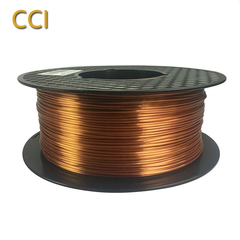3d printer silky copper pla filament silk copper 1 75mm 1KG 3D printing material silk like