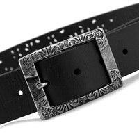 2017 MS cintura per le donne cintura in pelle belle moda dell'edizione del han Burlone cinghia decorazione MS contratto cintura nera