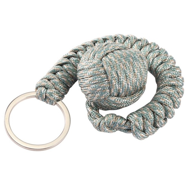 6 Colors Outdoor Security Protecting Monkey Fist Self Defense Tool Lanyard  Survival Multifunctional Key Chain For fbb135fc1
