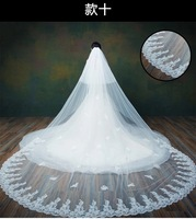 Wedding Veils Lace Appliques Bridal Veils Long Bridal Veils Two Layers Wedding Accessories Bridal Veil