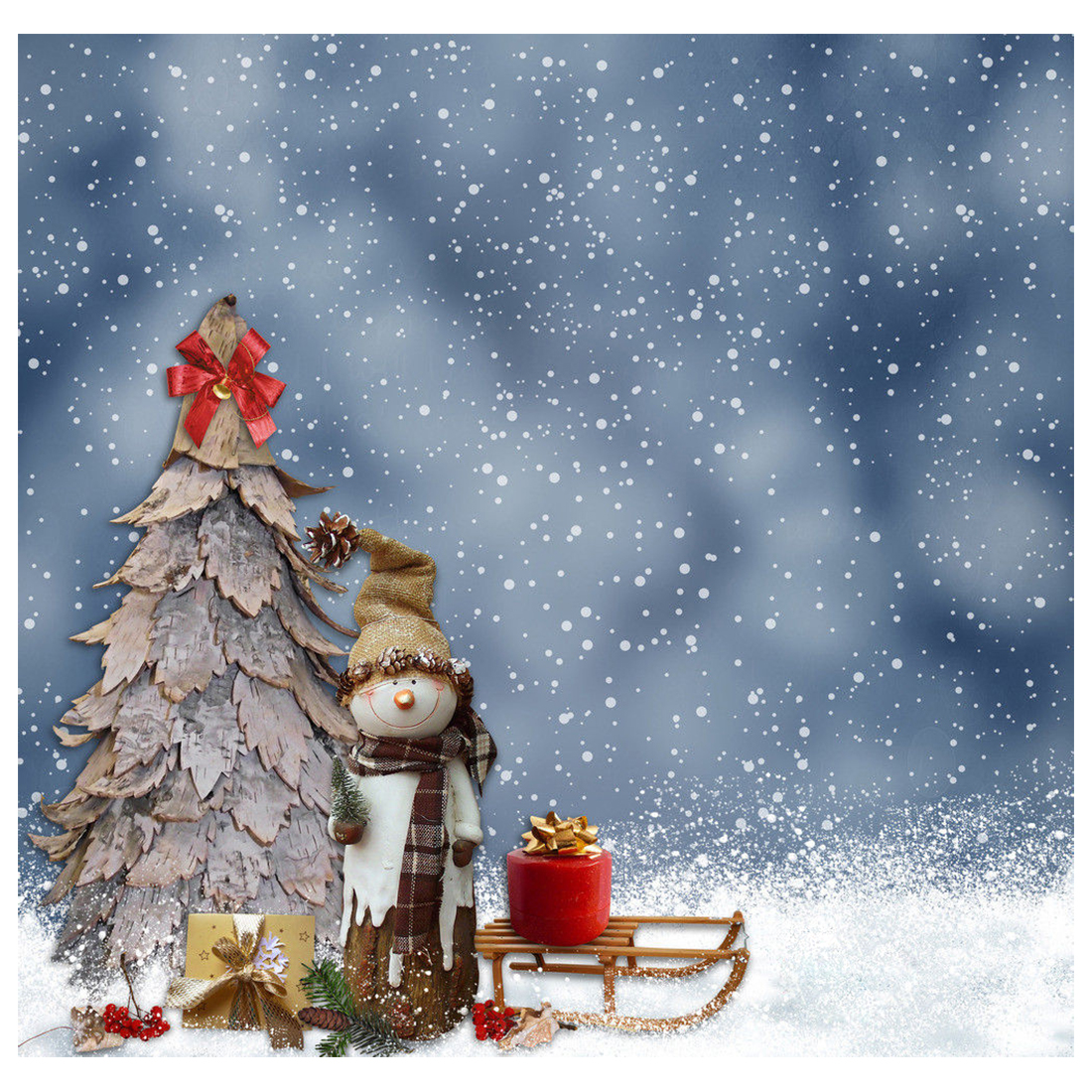 Thin Vinyl Christmas Snow Photography Backdrop Prop Photo Background 5x7ft thin vinyl vintage book shelf backdrop book case library book store printed fabric photography background f 2686