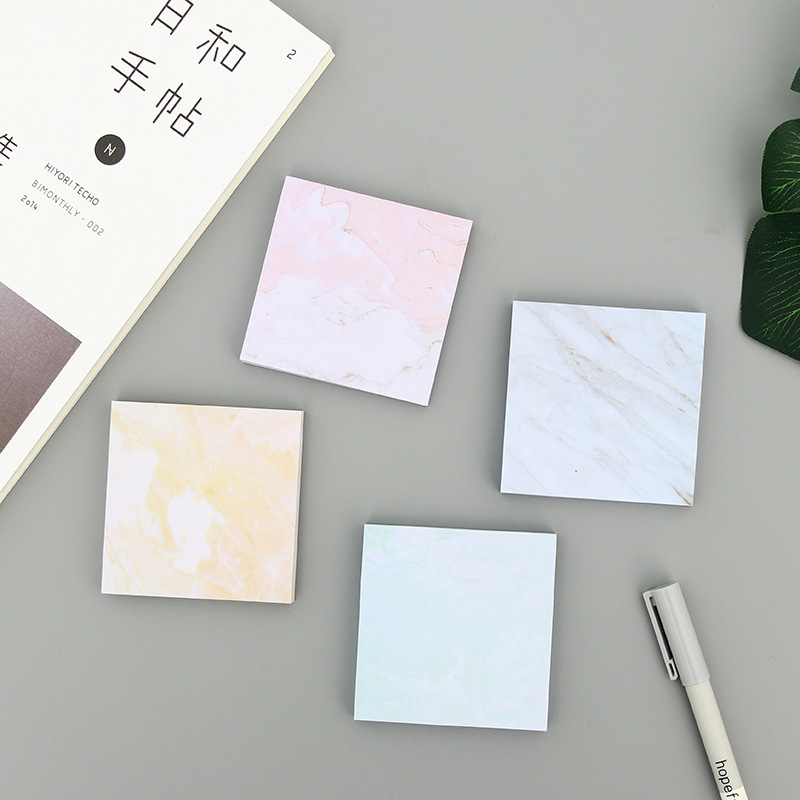 1Pack Novelty New Marble Printed Post It N Times Memo Pad Notebook Student Sticky School Label Gift E0750