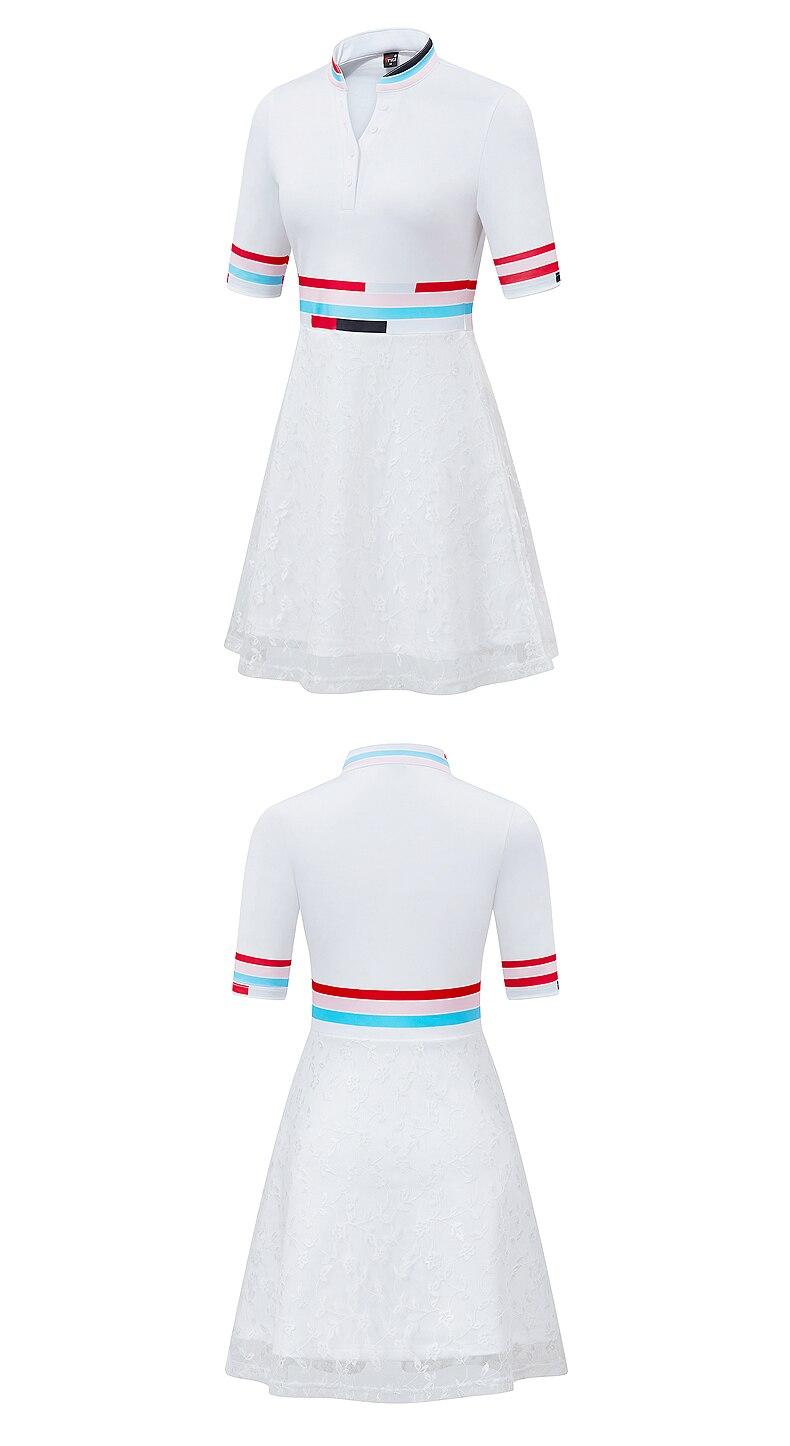 Manga Curta Saia Esportes Macios calções brancos vestido