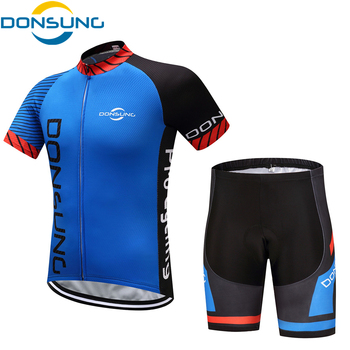 DONSUNG Cycling Jersey Sets Men Pro Team Outdoor Sport MTB Bicycle Clothing Short sleeve Cycling Clothes Maillot Ciclismo Hombre