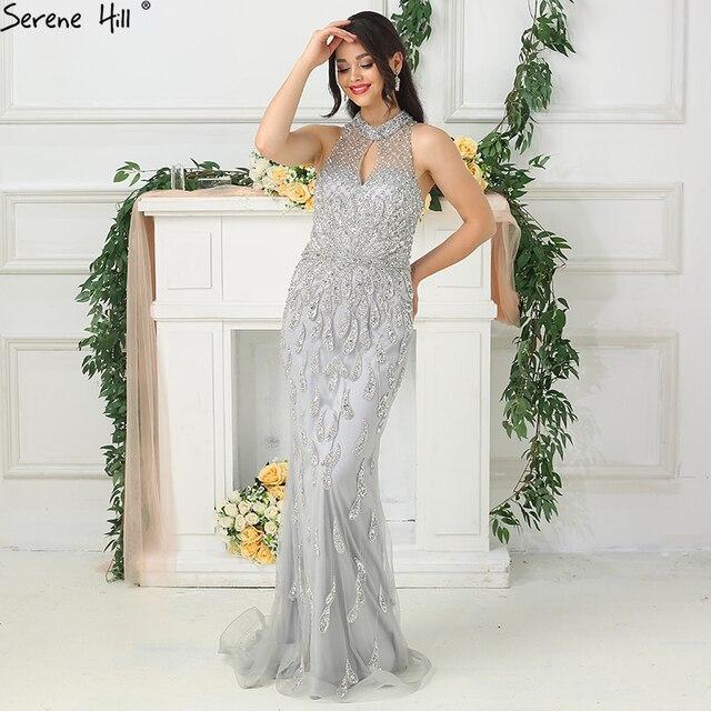 2020 חדש ללא שרוולים בת ים יוקרה לבוש הרשמי ואגלי נצנצים אופנה סקסי נוצץ ערב שמלות Serene היל LA6359