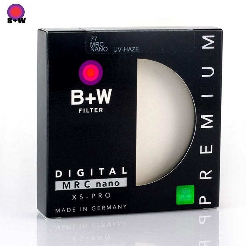B + W 49mm 52mm 55mm 58mm 62mm 67mm 72mm 77mm 82mm XS-PRO MRC Nano Filtro Protetor UV Haze Ultra-fino MC Filtro Para Lente Da Câmera