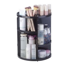 New Fashion 360-degree Rotating Makeup Organizer Brush Holder Jewelry Organizer Case Jewelry Makeup Cosmetic Storage Box Shelf