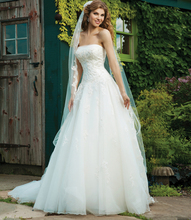 BacklakeGirls Custom Made Sleeveless Wedding Dresses Off The Shoulder Court Train A Line Bride Dress 2017