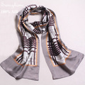 Foulard Femme Soie De Marque Silk Men Scarf British style100% Pure Silk Long Shawls Double Face Satin Silk Shawls and Scarves