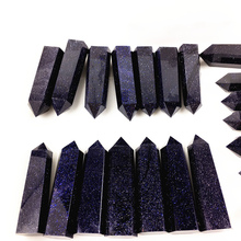 1000g Natural Blue sandstone quartz crystal point wand &obelisk reiki healing energy gemstone for home Wedding decora