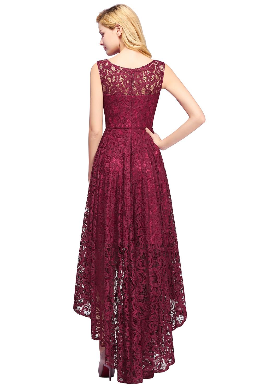 abd264735c Neue Abendkleider High Low Ärmellose burgund Lange Zurück Kurze Vordere  Prom Frauen Party Kleid Abendkleid 2019 Vestido De festa ~ Best Seller June  2019