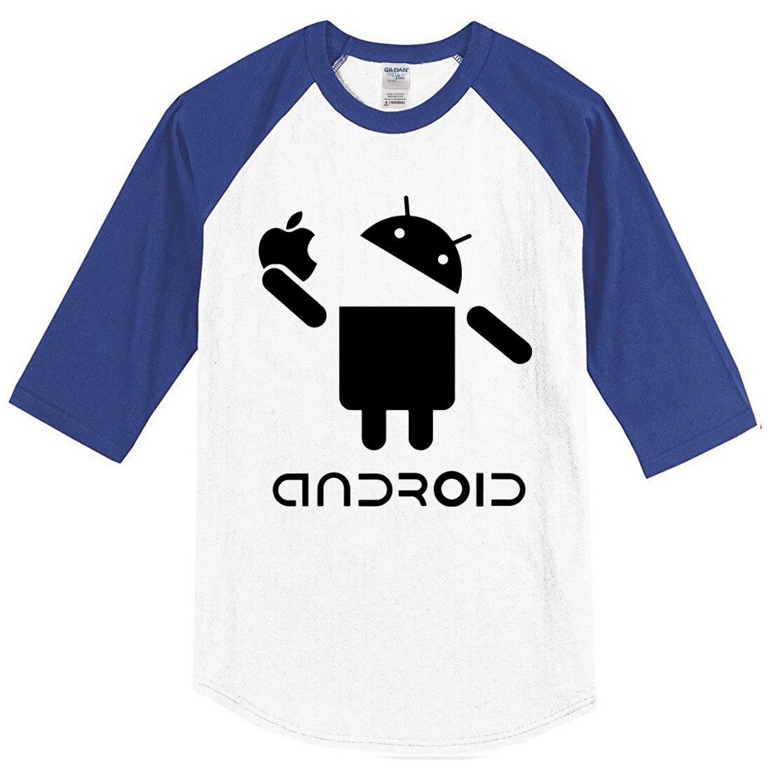 eed4e574bbc4 Android sommer 2017 T shirt baumwolle drei viertel sleeve herren T shirts  mode lässig raglan t shirt harajuku crossfit marke in Android sommer 2017 T- shirt ...