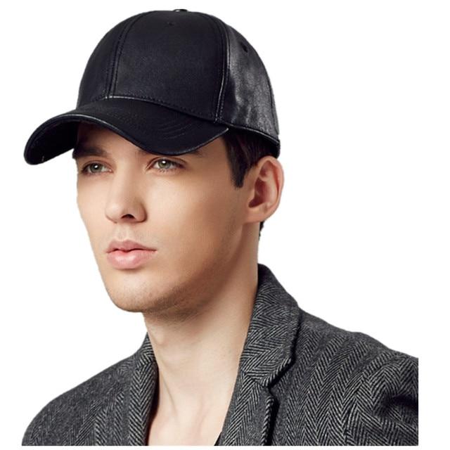 Hot Selling Kenmont Winter Autumn Men 100% Oxhide Genuine Leather Baseball  Cap Visor Outdoor Sports Hat High Quality 2269 e624811c6644