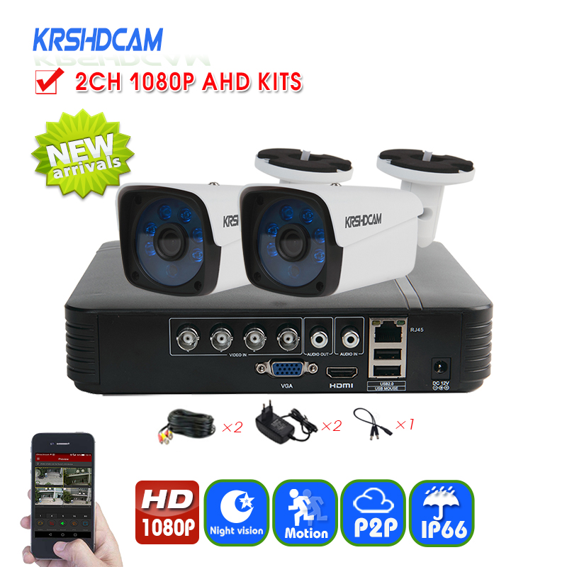 Security CCTV system 1080N XVR full HD 1080P AHD Camera 3000TVL metal outdoor bullet camera System surveillance night Vision
