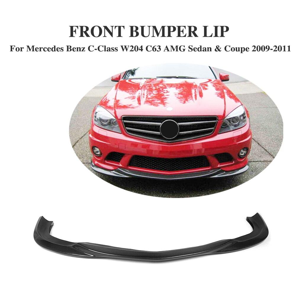 Carbon Fiber Front Lip Spoiler Aprons For Mercedes Benz C63 AMG Sedan & Coupe 2009 2010 2011