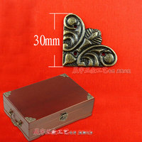30MM Small Butterfly Fillet Furniture Hardware Antique Corners Wooden Box Gift Box Edges Lace Corner Triangle