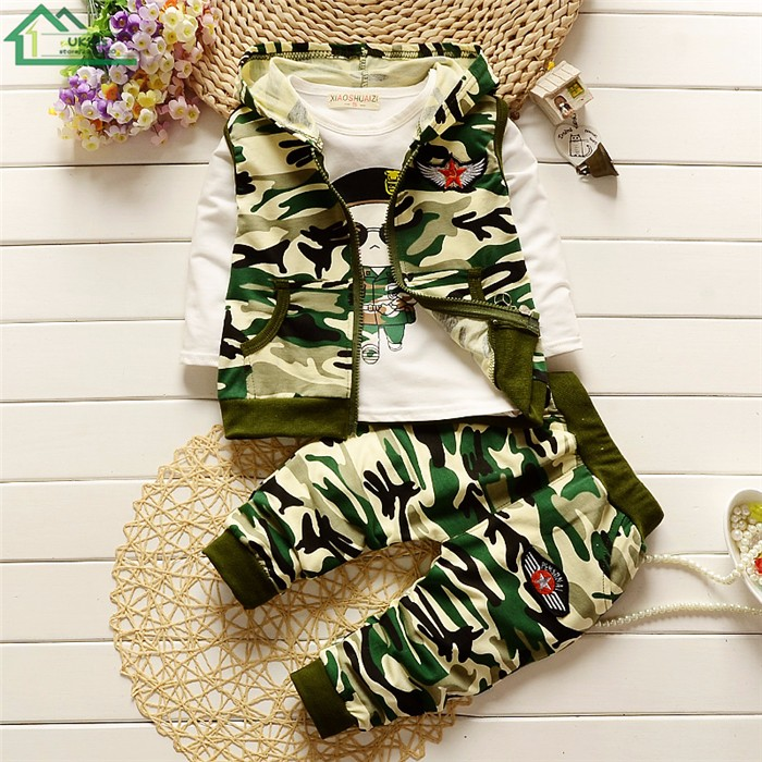 long sleeve camouflage kids clothes set18