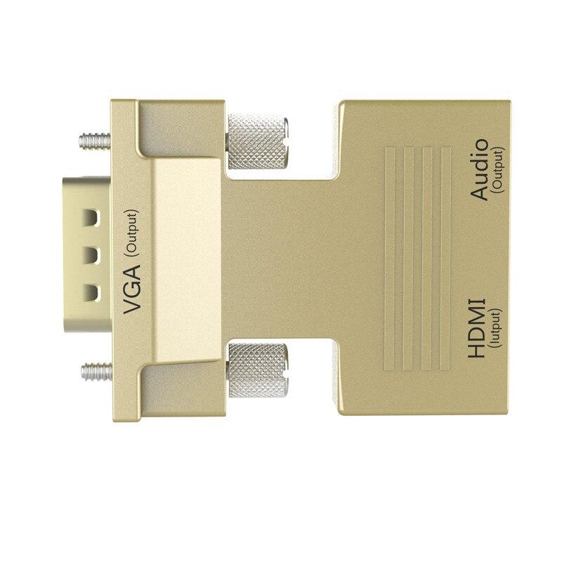 HTB1Nvs8azuhSKJjSspmq6AQDpXaa Robotsky 1080P HDMI to VGA Adapter Digital To Analog Audio Video Converter Cable for PC Laptop TV Box Projector