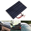18 v 30 w panel de energía solar inteligente del coche rv del barco diy Cargador de batería Solar panel cargador de batería de coche W/Alligator Clip de Hogar viajar