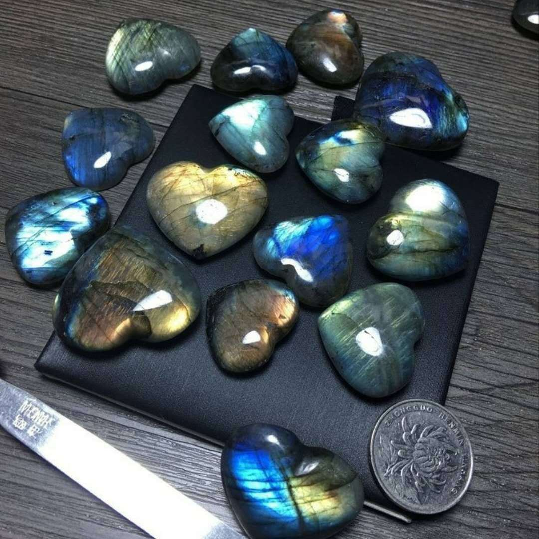 Natural Labradorite Blue Moonlight labradorite pendant beads stone