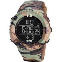 OTS Outdoor Watch 5ATM Waterproof Sports Watches Camouflage Large Dial G Shock OTS Wristwatch Military Army