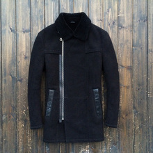 Free delivery 2015 The unique single Australia's sheep Fur Sheep Shearing Jacket Windbreaker Coat Men's leather-based jackets 8120