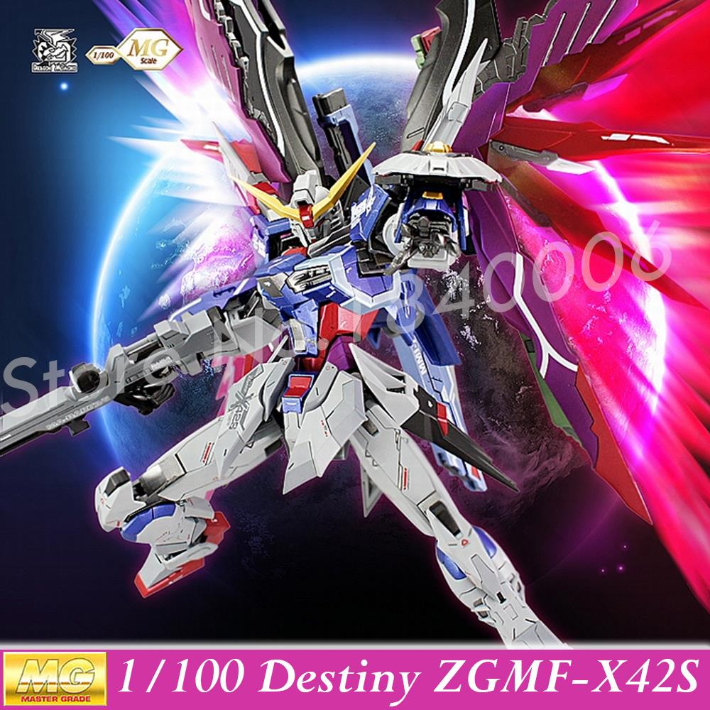 MOMOKO Model Kits New Gundam Seed Destiny MG 1/100 ZGMF-X42S Destiny Mobile Suit Genuine Robot Action Figures kids Anime Toys plus size plaid trim tunic tee