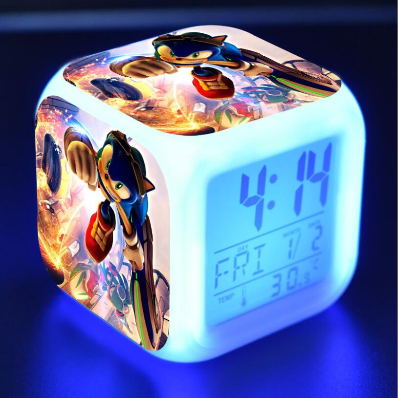 Sonic The Hedgehog LED Cube Alarm Clock 5
