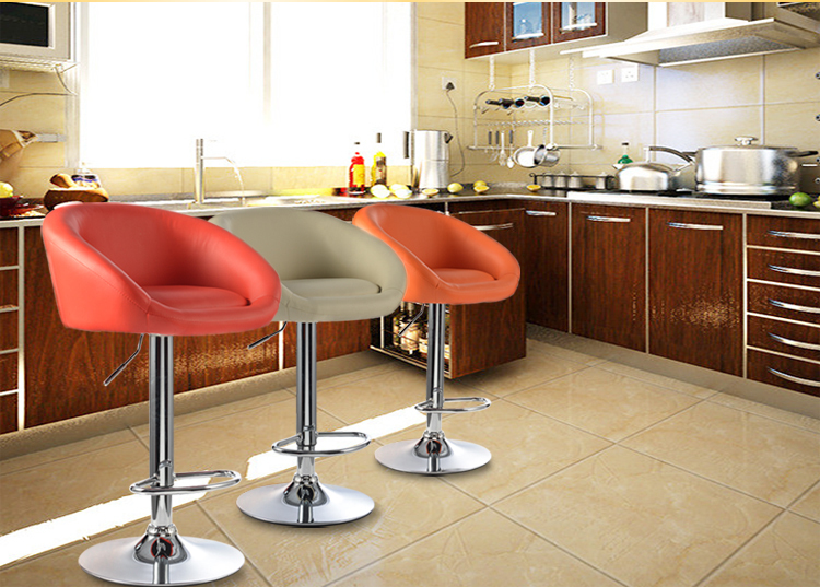 bar chair hair salon stool free shipping PU leather red purple green color furniture shop retail wholesale chair stool furniture shop green black red orange white color retail and wholesale free shipping