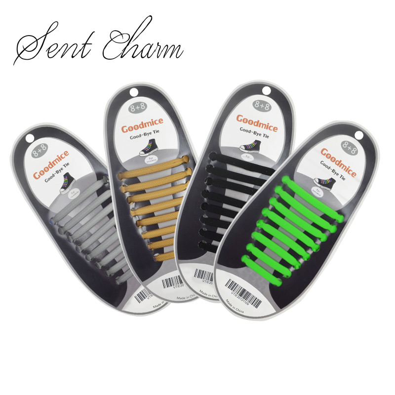 Elastic Silicone No Tie /'Lazy/' Shoe Laces Shoelaces Men Ladies Trainers Shoes