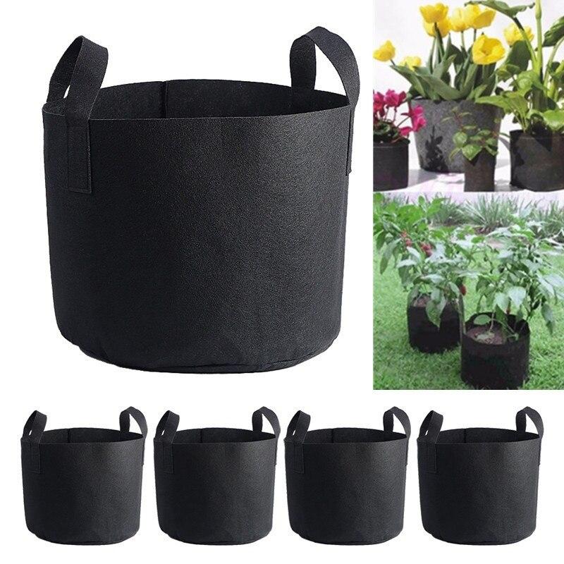 1 Pc 6 Größen Schwarz Pflanze Wachsen Tasche Container Stoff Anlage Wurzel Werkzeuge Pflanzen Topf Gemüse Blumentopf Container Garten Liefert Zur Verbesserung Der Durchblutung