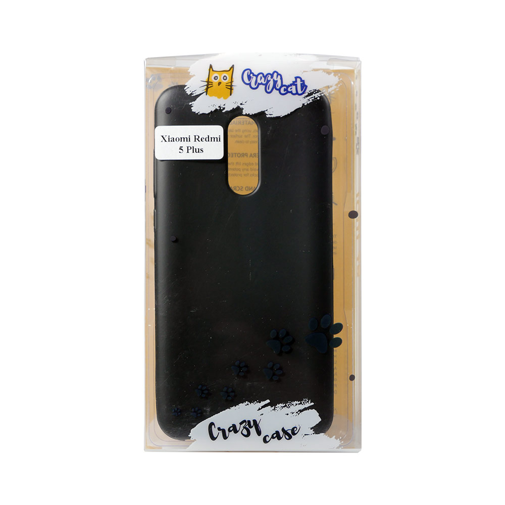 Mobile Phone Bags & Cases INOI Crazy Cat case for Xiaomi Redmi 5 Plus, TPU, black mi_1000005378129,1000005328964 корм консервированный для кошек dr clauder s herz in delikater sosse