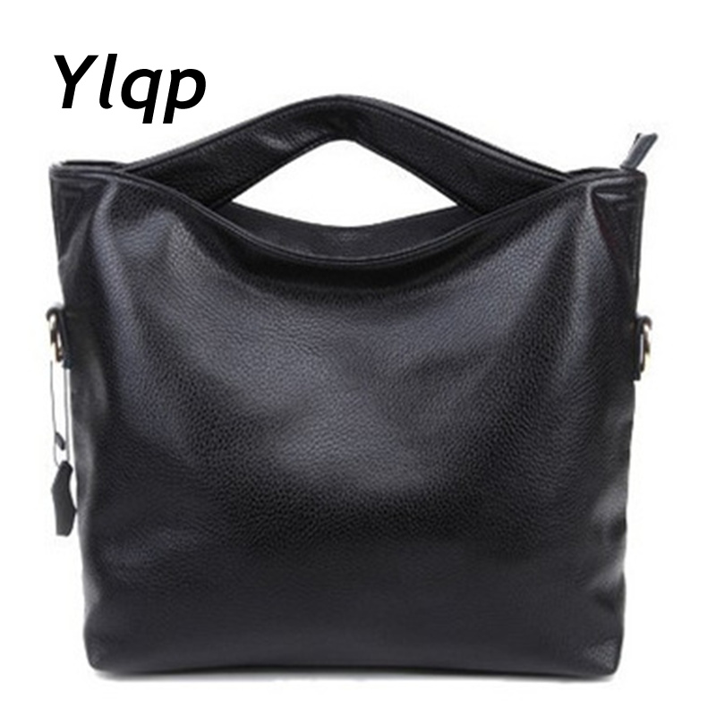 2018 New fashion leather handbags designer brand women messenger bag women leather shoulder bag ladies casual vintage totes