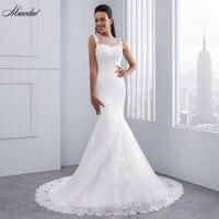 Miaoduo Vintage Mermaid Wedding Dress Full Length Scoop Neck Bridal Gown Sexy Cap Sleeve 2018 Bridal Wedding Gown Sweep Train