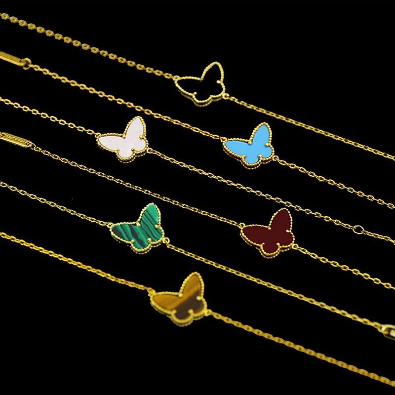2017 novedad de alta calidad de moda de Color dorado con mariposas para mujer