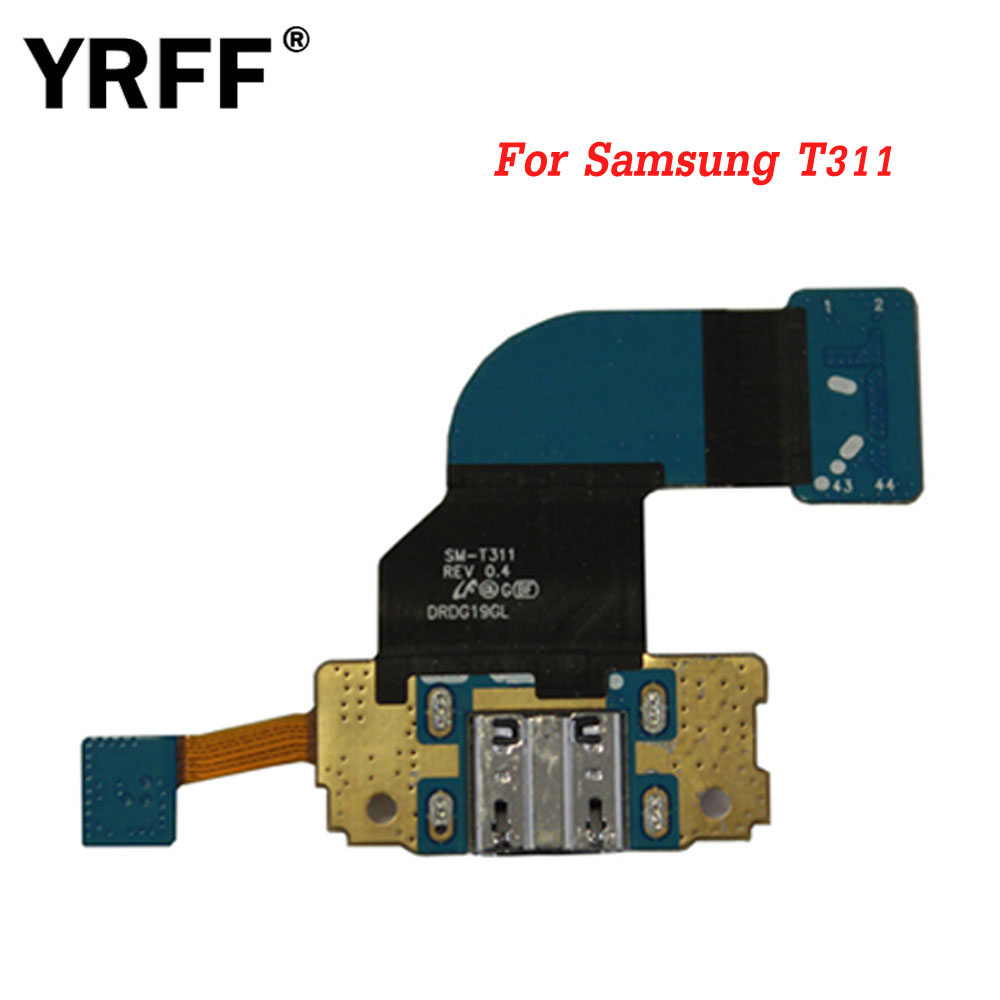 T311 Dock Connector Charger USB Charging Port Repair Parts Charging Port Micro Flex Cable For Samsung Galaxy Tab 3 8.0 SM T311