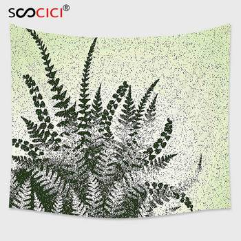 Cutom Tapestry Wall Hanging,Green Decor Nature Botanic Exotic Plants Aloe Vera Leaves and Grunge Image Pale Green Olive Green
