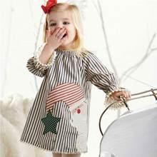 8251536c9 TELOTUNY Toddler Kids Baby Girls Santa Striped Princess Dress Christmas  Outfits Clothes no23